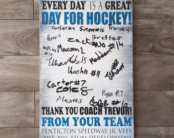 Coach gift - players sign signatures - Team gift