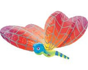 "40"" Rainbow Dragonfly foil balloon garden party decoration"