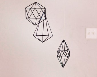 Black or Gold Geometric Mobile