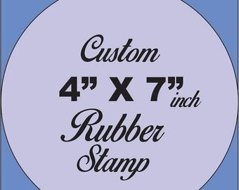 ON SALE Custom Rubber Stamp made to order from your artwork and or logos