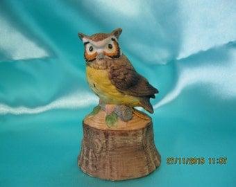 Vintage owl bell figurine used