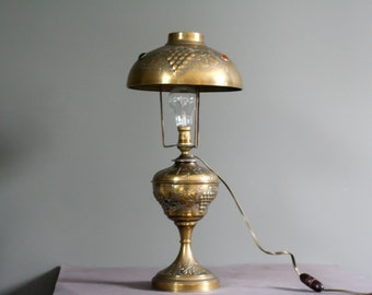 "French antique brass lamp desktop - called ""parisian lamp"" - circa 1920"