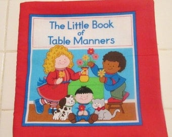 The Little  Book of Table Manners cloth book