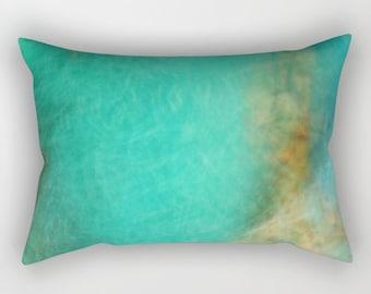 Rectangular Pillow - Fantasy Ocean 3 - Small Medium Large XLarge - photography blue abstract sea ocean