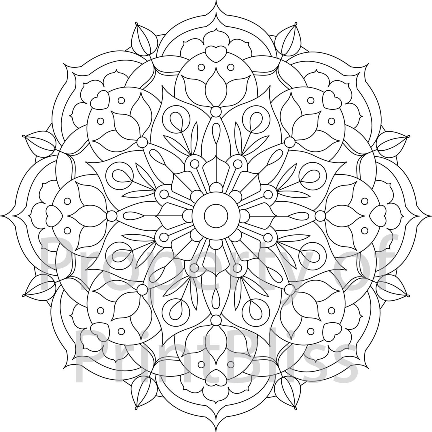 18 flower mandala printable coloring page. Black Bedroom Furniture Sets. Home Design Ideas