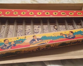 Vintage Xylophone in original box. Hammer missing.  1960's.