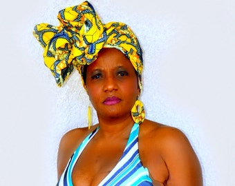 MALIA Head Wraps, African  Head Wraps,  African Head Scarves,  African Clothing