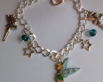 tinkerbell fairy bracelet charms