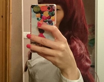 wig long curly wigs red wig