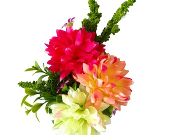 10% off with the code BDAY10 Sweet Succulent Dahlia Hair Flower
