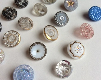 Moroccan Style Vintage Glass Button Collection