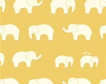 Birch 100% Organic Knit Fabric - Mod Basics - Ellie Fam - Sun
