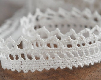 Natural linen lace Linen lace for sewing Crochet linen lace Linen lace White linen lace 2.5 cm wide