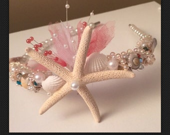 XO Bouquets pearl sea shell headband