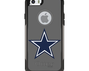 OtterBox Commuter for Apple iPhone 5S SE 5C 6 6S 7 8 PLUS X 10 - Custom Monogram - Any Colors - Dallas Star