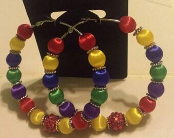 Basketball wives inspired rainbow earring