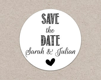 50 Count Personalized Stickers - Envelope Seal - Save the Date Sticker - Custom Wedding Sticker - Wedding Label - Save the Date Label