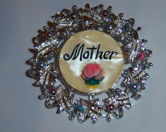 Mother Brooch. Mother Pin.