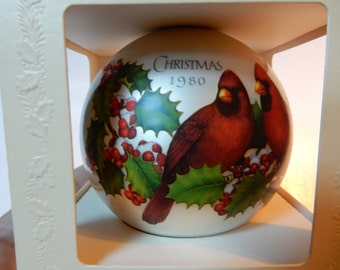 1980 Christmas Cardinals Hallmark Ornament