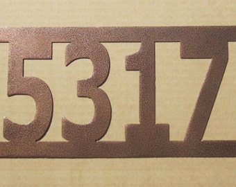 House Number Address Metal Sign, Western style, Metal Art, Handmade, Any Numbers