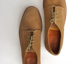 80s Suede Oxfords NWOT Vintage Nubuck Leather Shoes Rubber Outer Soles, Preppy Shoes 13 C, 80s LL  Bean Shoes, Gift for Guy, Casual Footwear