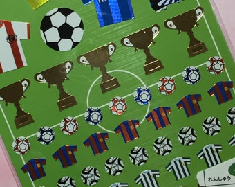 Soccer Mini Planner Stickers - Cute from Japan