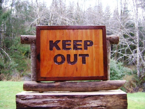 Keep Out Bedroom Or Refrigerator Door Sign Hand