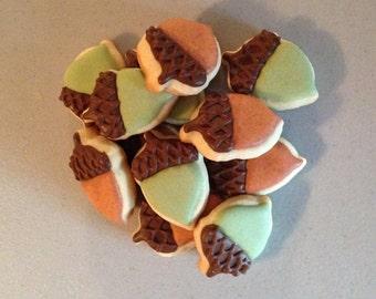 2 dozen Mini Acorn Sugar Cookies