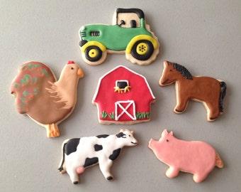 Farm Themed Sugar Cookies