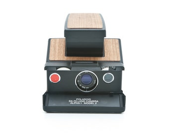 Polaroid SX70 Alpha 1 Model 2 SLR Instant Camera - New Cherry Wood Covering - Tested - Guaranteed Working - Polaroid SX-70 reconditioned