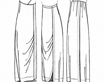 RH903 - Ladies' Hobble-skirt Sewing Patterns by Rocking Horse Farm