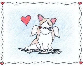 Corgi Valentine Cards
