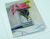 Gerbera Flower Bouquet Card, Set of 8, Amy Brnger Art Reproduction