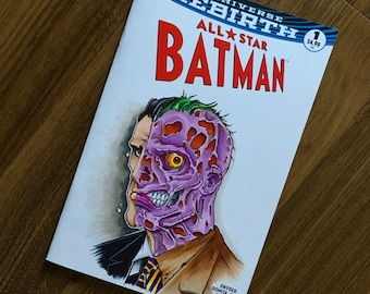 All Star Batman Two Face Sketch Cover