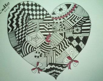 Pic-a-Name Heart Shape