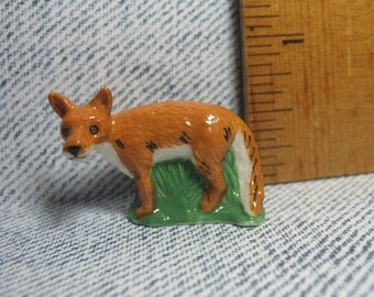 FOX Foxes, Hunting in the Woods Series  - French Feve Feves Figurines Doll Dolls House Miniatures V140