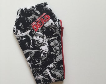 Zombie Coffin Coin Purse, Coin Pouch, Change Purse, Change Pouch, Halloween, Zombies, Horror