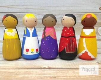 Girls of The World Peg Dolls