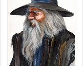 "Wizard Print - ""Impressionist Wizard"" - 8x10 Fantasy Art Reproduction"