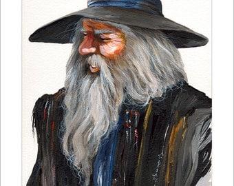 8 x 10 Print - Impressionist Wizard © J W Baker