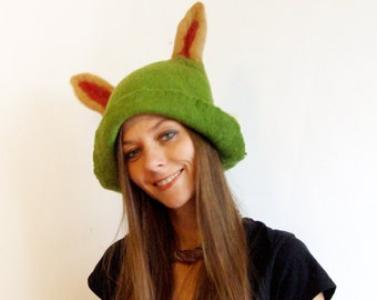 Teemo Hat -  League of Legends Cosplay Hat - Character Hats - Hand Felted Costume Hat