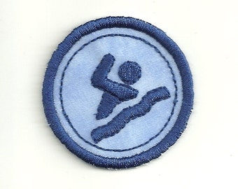 """2"""" Swimming Merit Badge, Patch! Any Color combo! Custom Made!"""