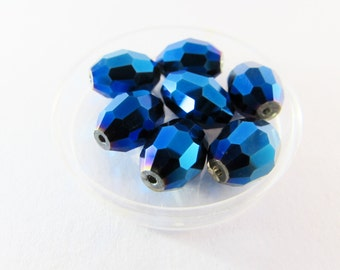 D-00774 - 10 Glass beads AB oval 15x10mm
