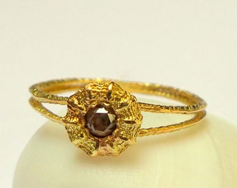 Gold ring - 18K Gold Ring - Solid gold Ring - Seed Ring - Collection seed - Free Shipping!!