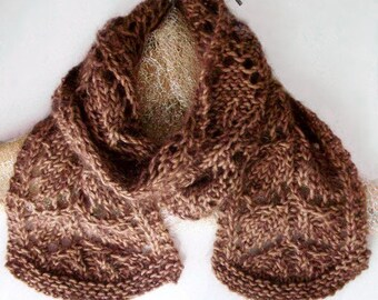 Vintage Style Knitting Pattern Leaf Lace Scarf