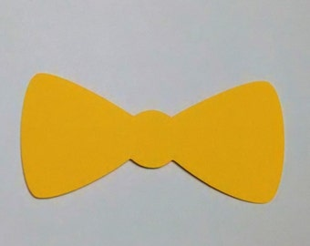 50 bow ties cardstock  2 inches