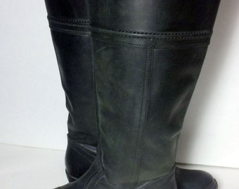 Frye 77219 Jane 14L Black Leather Boots Women's Size 10
