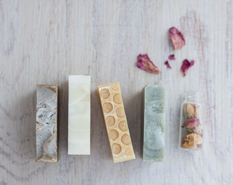 Set of four small soaps