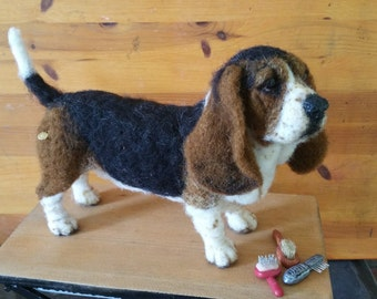 Needle Felted Basset Hound by Chicktin Creations