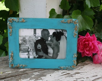 4 x 6 frames picture frames housewarming gifts bridal showers shabby chic home decor distressed wood frames